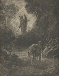 The Expulsion from the Garden of Eden - by Gustave Dore