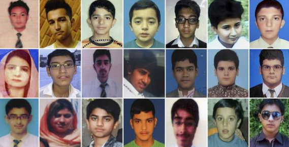 Photos of Pakistani children killed by Taliban
