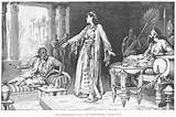 Esther points to the evil haman.