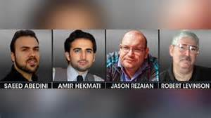 The Four AMERICANS held hostage by nuclear toting Iranians. Remember to thank Valerie Jarrett for her collusion.