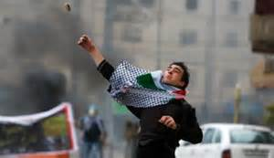 Palestinian rock and firebomb throwers